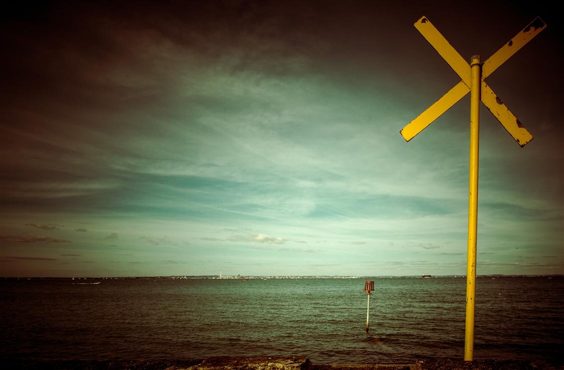 Blick von der Isle of Wight