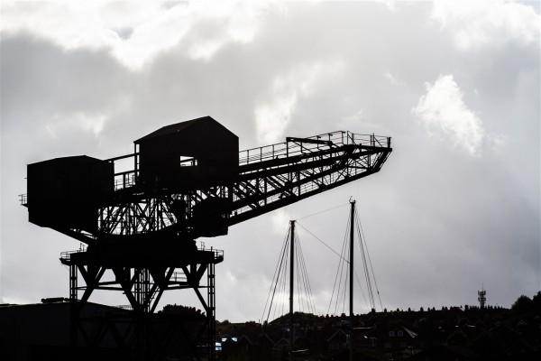 Fotograf Bremen Hafen mit Kran auf der Isle of Wight