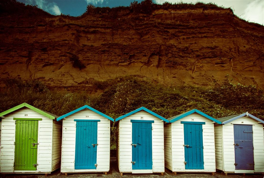 Badehäuschen auf der Isle of Wight