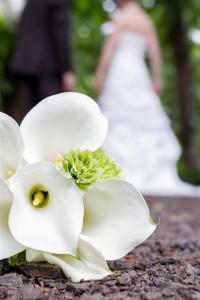 Hochzeitsfotograf Verden Hochzeitsstrauß liegt auf dem Boden