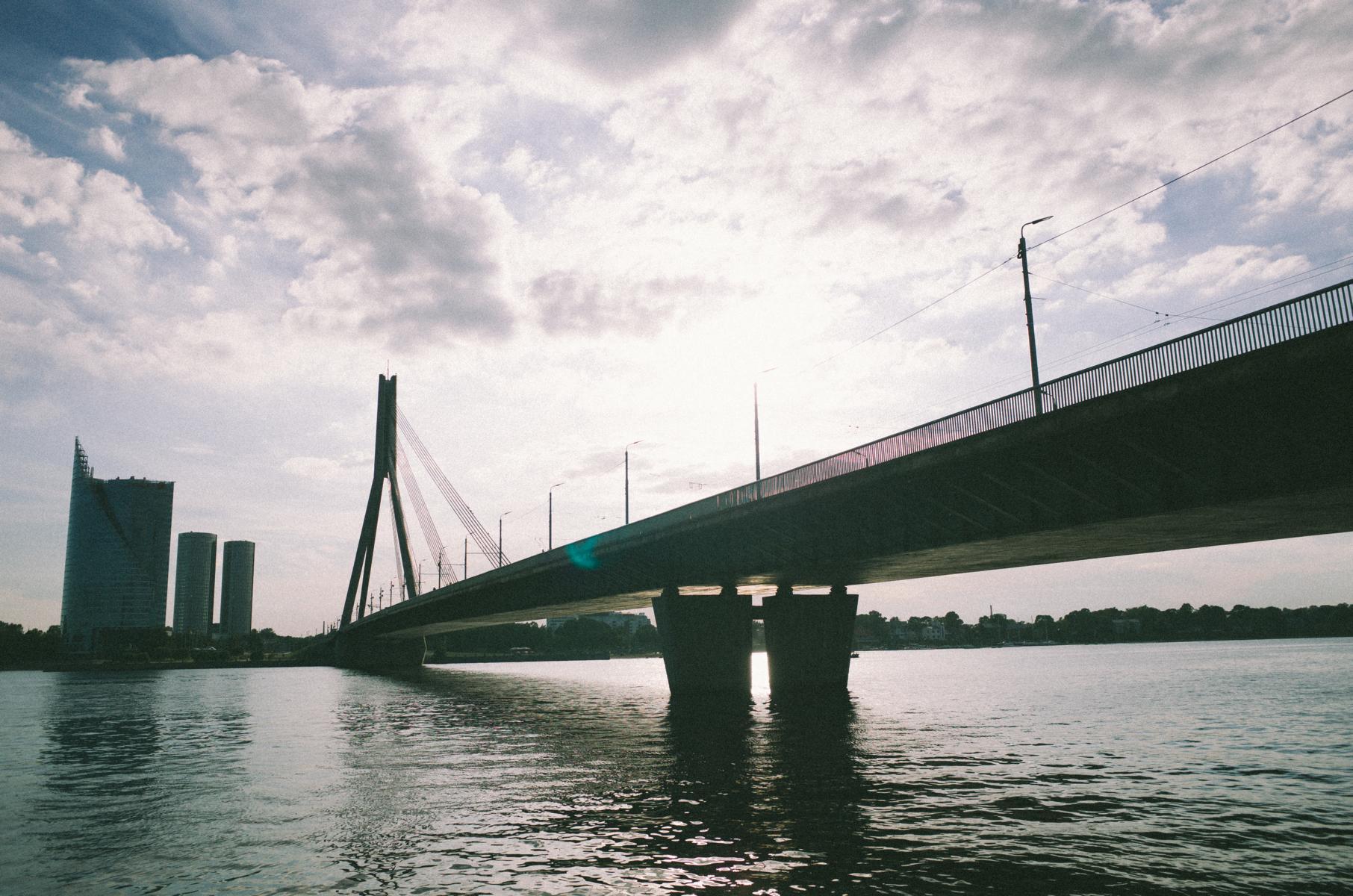 Große Brücke in Riga